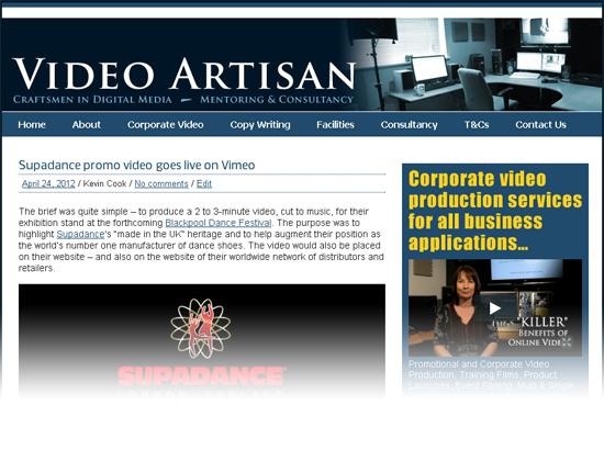New Video Artisan website