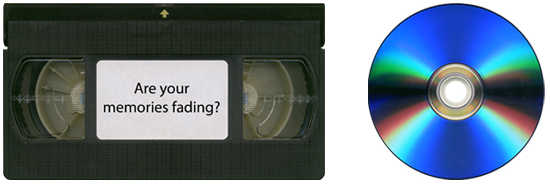 VHS video converted to DVD