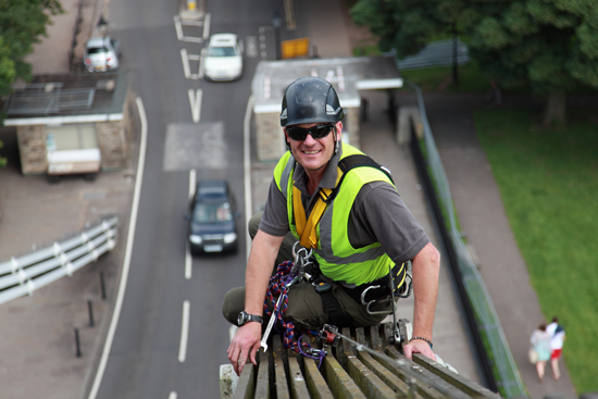 Eiger Safety on the chains at Clifton Suspension Bridge
