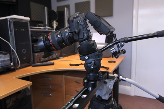 Varavon Slidecam S 900 with DSLR rig