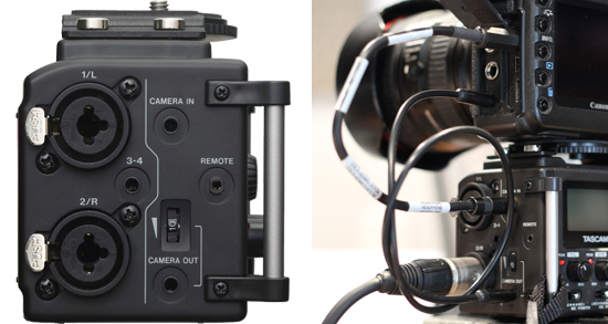 DSLR integration with the DR-60D