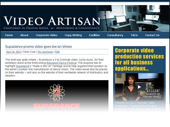 New Video Artisan website