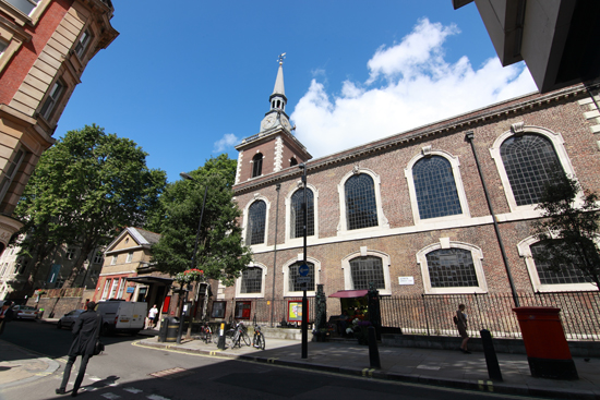 A well-known landmark on London's Piccadilly - St James's Church