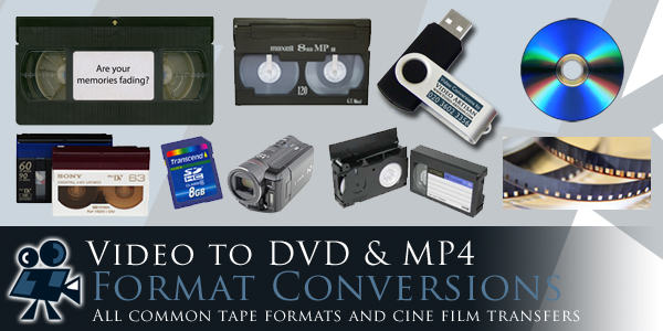 Video to DVD and MP4 video format conversions