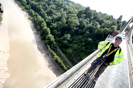 Clifton Suspension Bridge filming
