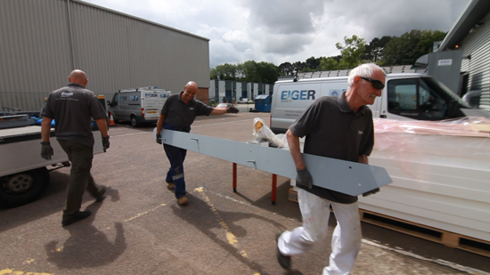 Steel staircase construction by Eiger Safety