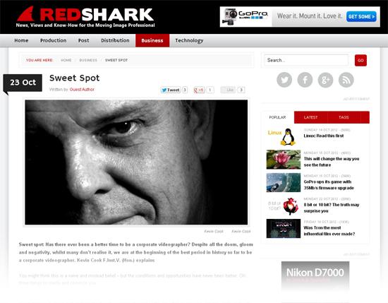 Freelance writer for RedShark online magazine