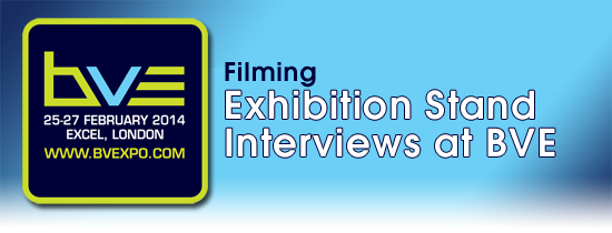 Filming exhibition stand interviews