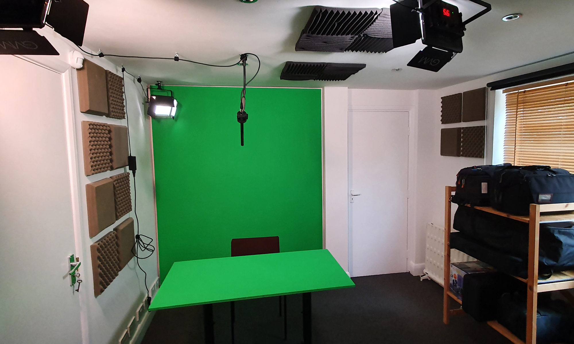 Green screen studio for hire