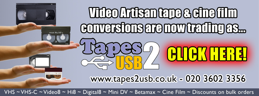 For videotapes and cine films to USB or DVD visit our sister website Tapes2USB